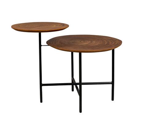 DUTCHBONE Side table Mathison brown wood 48.5x75x65cm