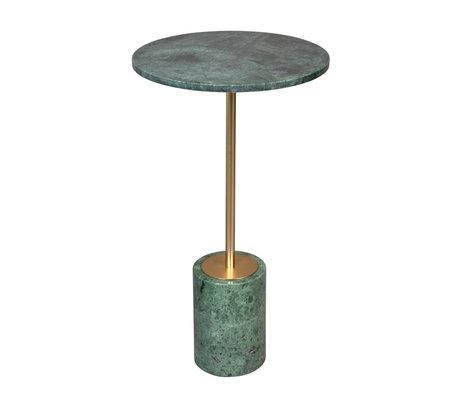 DUTCHBONE Table d'appoint Gunnar marbre vert Ø37,5x65cm
