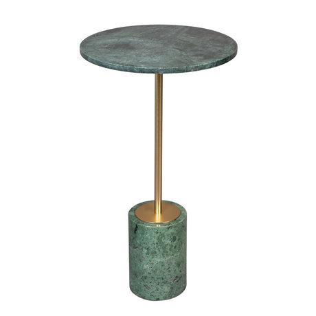 DUTCHBONE Beistelltisch Gunnar grün Marmor Ø37,5x65cm