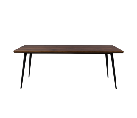 Dutchbone Eettafel Alagon donker bruin hout metaal 200x90x75cm