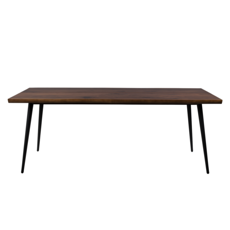 Dutchbone Dining table Alagon dark brown wood metal 200x90x75cm