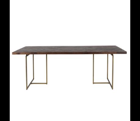 Dutchbone Table à manger Classe bois brun foncé 240x110x75cm