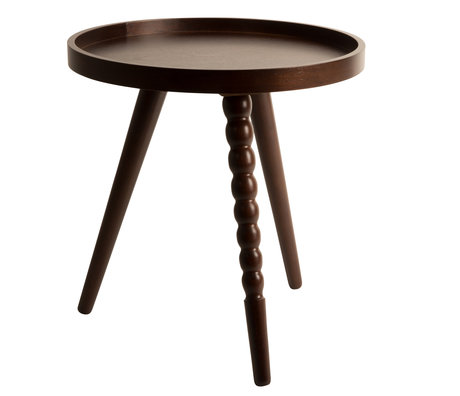 Dutchbone Table basse Arabica S bois brun foncé 40x45cm