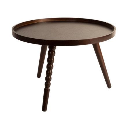 Dutchbone Table basse Arabica L bois brun foncé 58.5x40cm