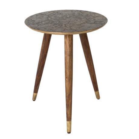 Dutchbone Table d'appoint Bast laiton laiton métal doré Ø40x50cm