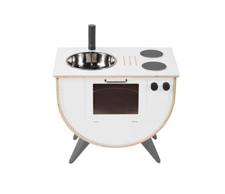 Sebra Play kitchen white wood 58x38x50cm
