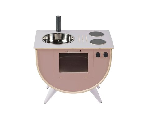 Sebra Play kitchen sunset pink wood 58x38x50cm