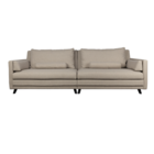 Dutchbone Sofa Linde 3,5-Sitzer sandbraun Textil 254x101x86cm