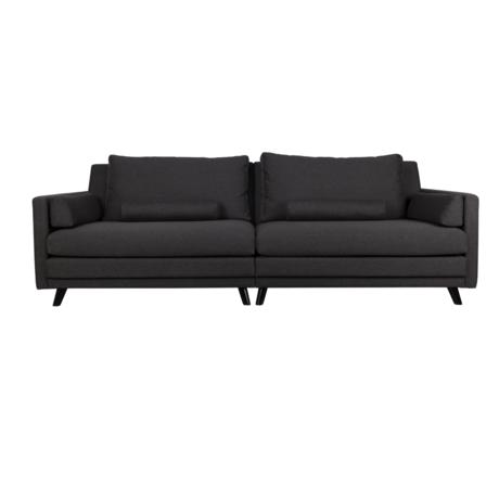 Dutchbone Sofa Linde 3,5-Sitzer dunkelgrau Textil 254x101x86cm