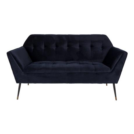 DUTCHBONE Sofa Kate 2.5-seater deep blue velvet 148.5x79x80cm