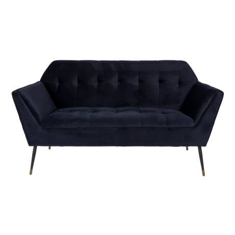 Dutchbone Sofa Kate 2,5-zits diep blauw velvet 148,5x79x80cm