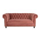 Dutchbone Sofa Chester rosa Samt 186x94x77cm