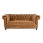 Dutchbone Sofa Chester goldbraun Samt 186x94x77cm