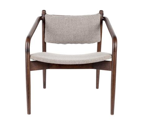 Dutchbone Sessel Torrance grau Textil 64x67x70cm