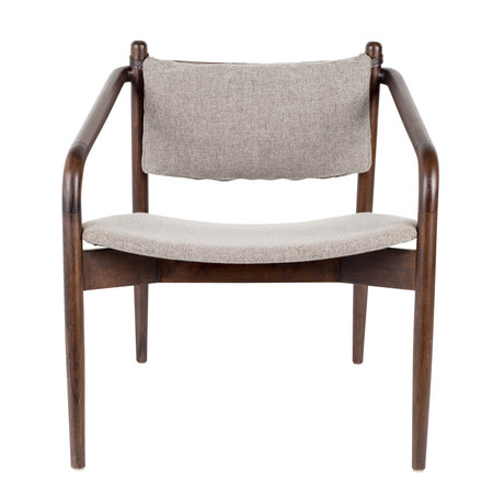 Dutchbone Fauteuil Torrance gris textile 64x67x70cm