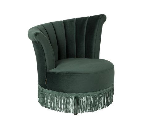DUTCHBONE Sessel Flair dunkelgrün Samt 95x85x88cm