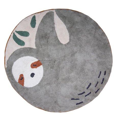 Sebra Carpet Sloth Lacey gray cotton ø120cm
