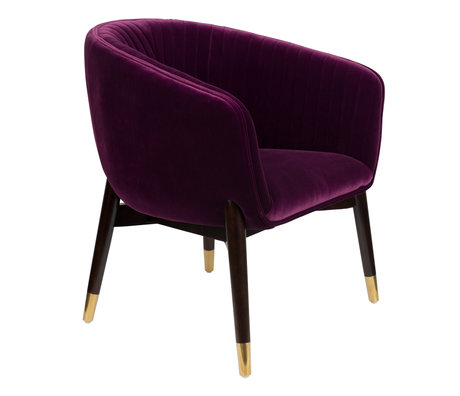 Dutchbone Armchair Dolly purple textile 71x67x80cm