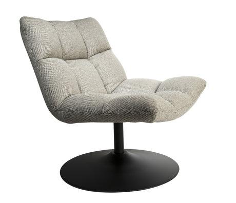 Dutchbone Drehsessel Bar hellgrau Textil 66x81x78cm