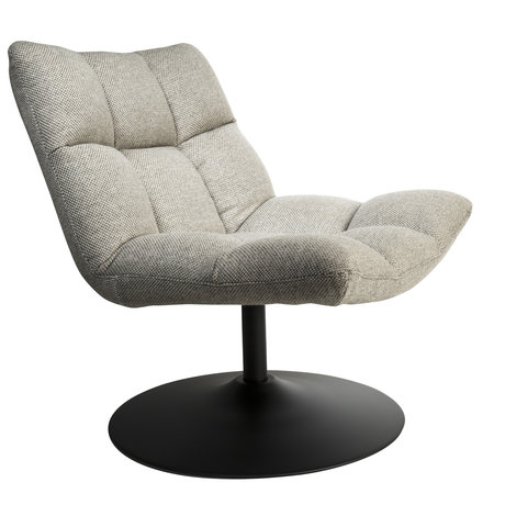 Dutchbone Swivel armchair Bar light gray textile 66x81x78cm