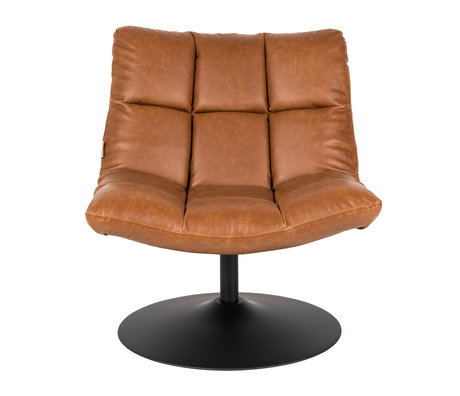 Dutchbone Swivel armchair Bar vintage brown leather 66x81x78cm
