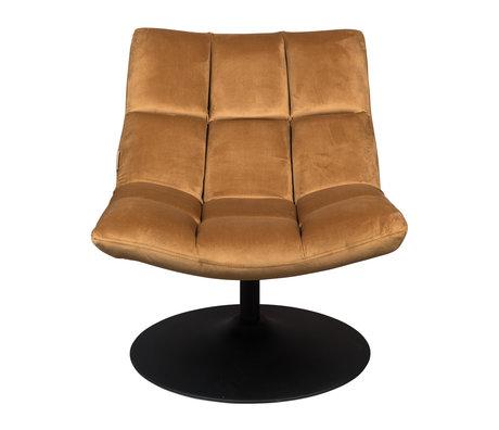 Dutchbone Draaifauteuil Bar goud bruin textiel 66x81x78cm