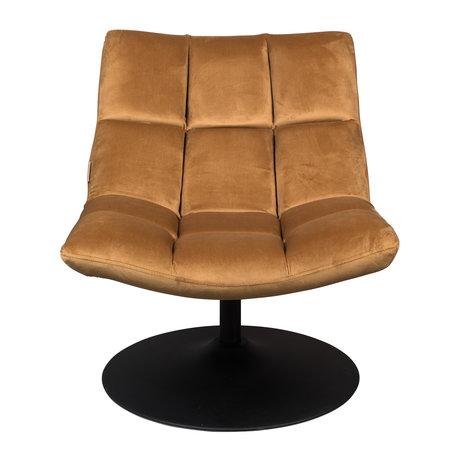 Dutchbone Fauteuil pivotant Bar textile doré 66x81x78cm