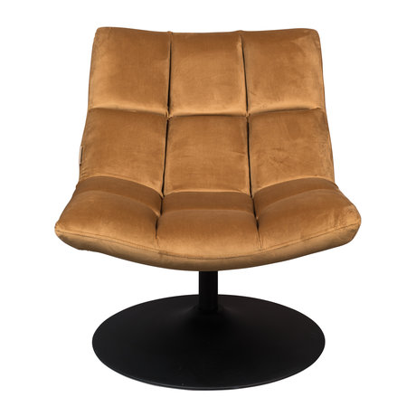 Dutchbone Swivel armchair Bar gold brown textile 66x81x78cm