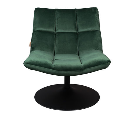 Dutchbone Swivel armchair Bar velvet green textile 66x81x78cm
