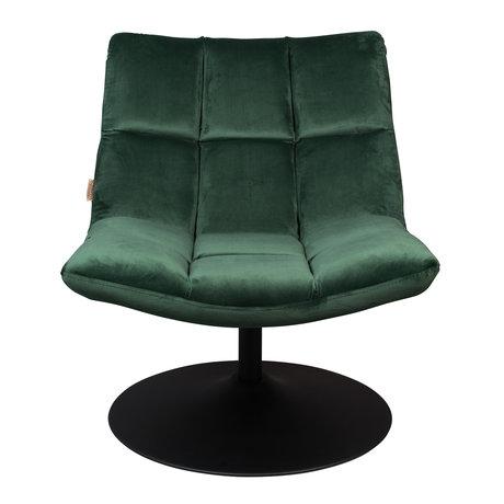 Dutchbone Draaifauteuil Bar velvet groen textiel 66x81x78cm