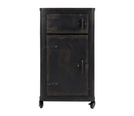 Dutchbone Armoire Brooke Antique Fer Noir 45x36x81.5cm