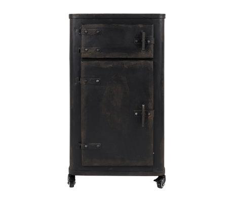 Dutchbone Cupboard Brooke antique black iron 45x36x81.5cm