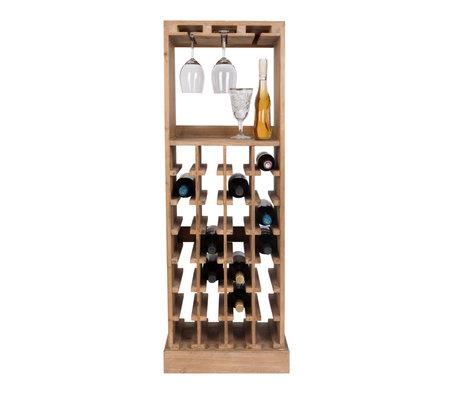 Dutchbone Wijnkast Claude bruin hout 43,5x31,5x118,5cm