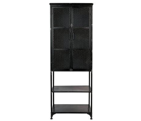 Dutchbone Kast Denver High zwart metaal 60x39x160,5cm