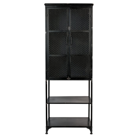 Dutchbone Cabinet Denver High black metal 60x39x160.5 cm