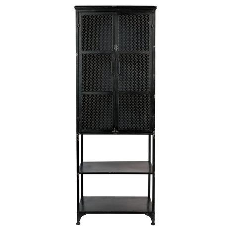 Dutchbone Schrank Denver High schwarz Metall 60x39x160,5 cm