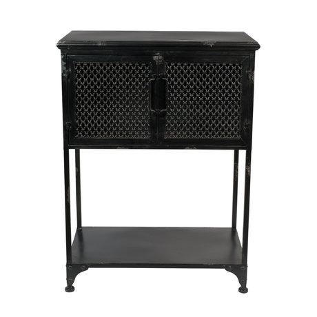 Dutchbone Table d'appoint Denver Low en métal noir 60x34.5x80.5 cm