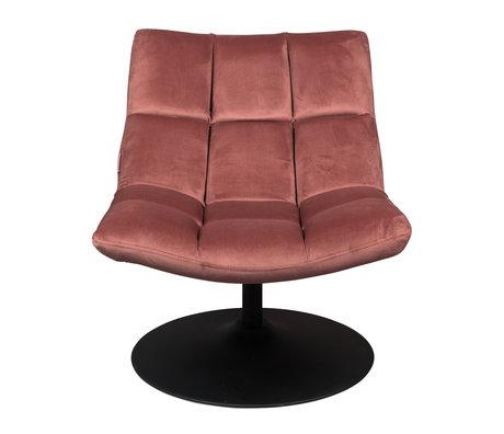 Dutchbone Swivel armchair Bar old pink textile 66x81x78cm