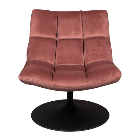 Dutchbone Draaifauteuil Bar oud roze textiel 66x81x78cm