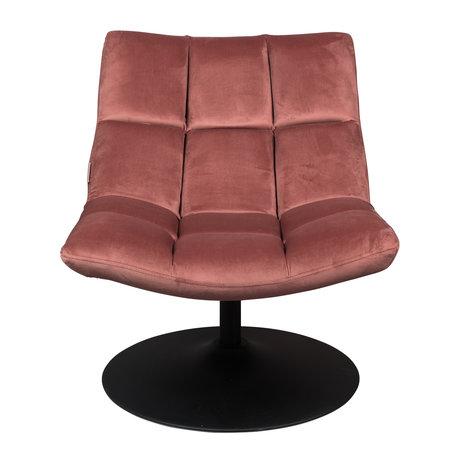 Dutchbone Drehsessel Bar alten rosa Textil 66x81x78cm