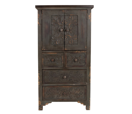 Dutchbone Cupboard Fuz dark brown wood 64x40x118cm