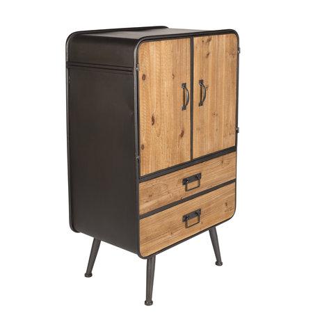 Dutchbone Cupboard Gin brown gray wood metal 60x38x100cm