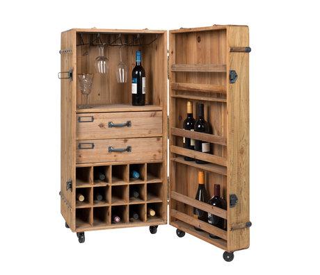 Dutchbone Armoire à boissons Lico bois brun 50x50x109cm