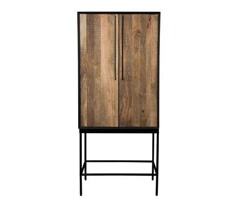 Dutchbone Kast Nairobi bruin hout 70x40x160cm