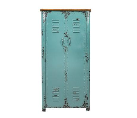 Dutchbone Kast Rusty antiek licht blauw ijzer 75x38x153cm