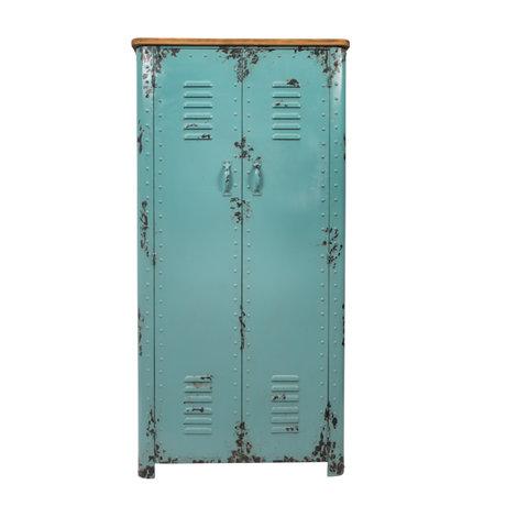 Dutchbone Schrank Rusty Antik hellblau Eisen 75x38x153cm