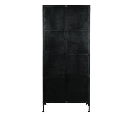 Dutchbone Kast Texas zwart metaal 80x40x180cm