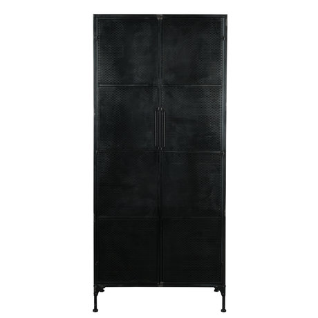 Dutchbone Armoire Texas en métal noir 80x40x180cm