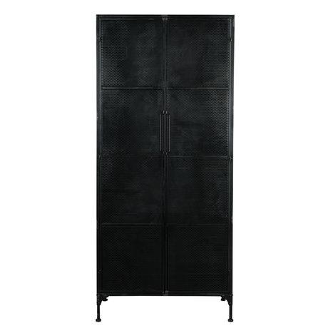 Dutchbone Schrank Texas Black Metal 80x40x180cm