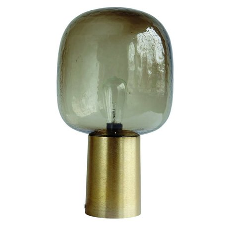 Housedoctor Table Lamp Note greyed glass gold aluminum ø28x52cm